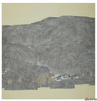 房君《那山那水》2010首届现代工笔优秀奖作品
